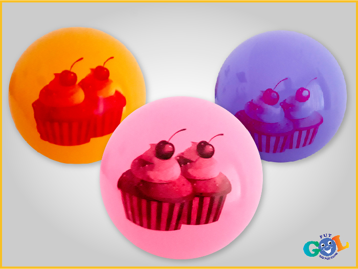 Bola Cupcake cereja