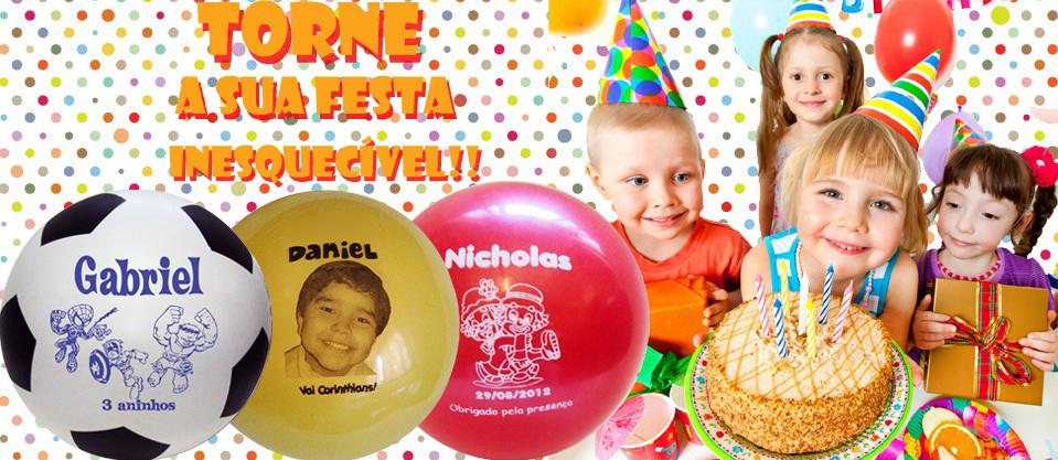Bolas personalizadas para aniversários infantis